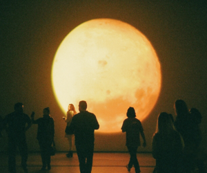 moon, people, and art image