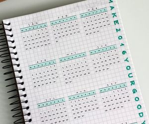 school, calendar, and notebook image