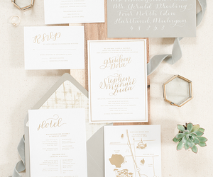 beauty, bride, and stationery image