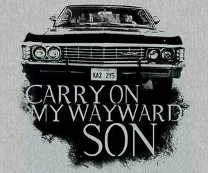 supernatural, impala, and dean image
