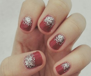 christmas, glitter, and red image