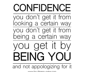 confidence, love, and quote image