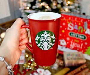 starbucks, christmas, and gift image