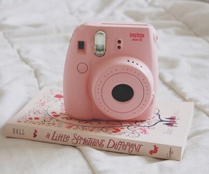 book, pink, and camera image