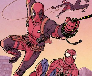 background, comics, and deadpool image