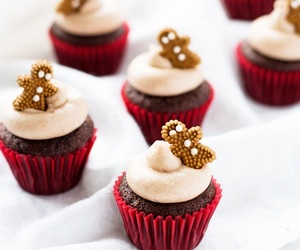 cupcake, christmas, and gingerbread image