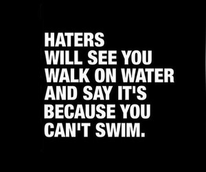 quotes and haters image