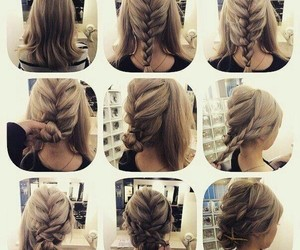 braids, bridal, and hairstyle ideas image