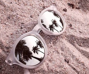 summer, sunglasses, and beach image