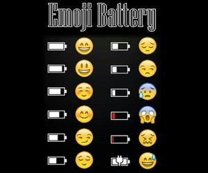 emoji, funny, and battery image