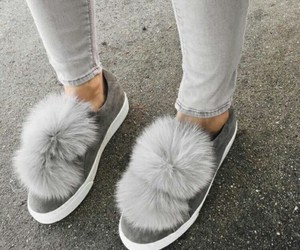 grey, pompom, and shoes image