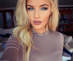 makeup, girl, and blonde image