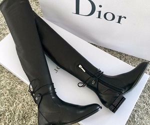 dior, boots, and shoes image