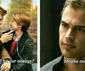 divergent, the fault in our stars, and funny image