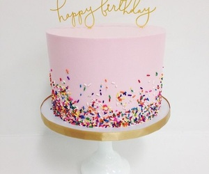 pink, birthday cake, and cake image