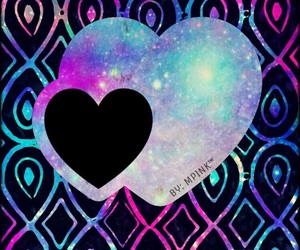 awesome, heart, and background image