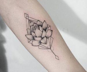 flower tattoo, lotus flower, and lotus tattoo image