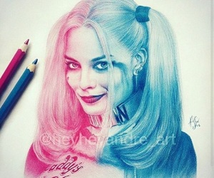 suicide squad, harley quinn, and art image