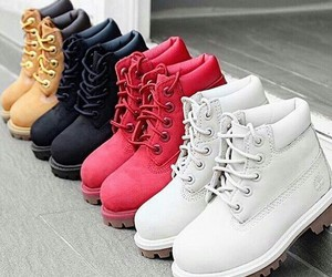 shoes, red, and timberland image