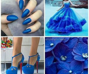blue and color image