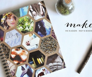 diy, notebook, and pictures image