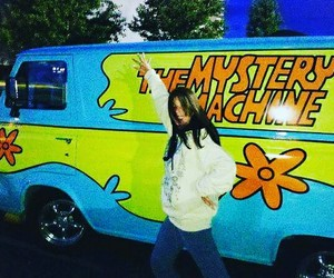 cartoon, mystery machine, and scooby-doo image