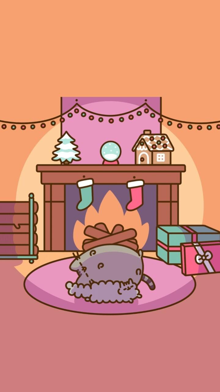 art, background, beautiful, beauty, cartoon, cats, christmas