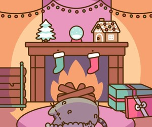 cats, christmas, and pusheen image