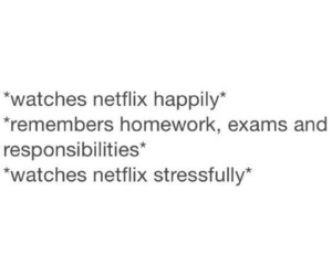 netflix, funny, and homework image