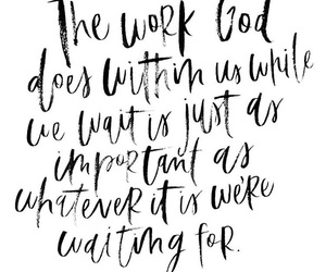 god, patience, and waiting image
