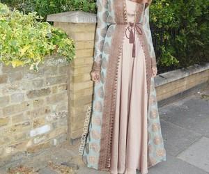 fashion, robe, and hidjab image
