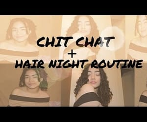chit chat, curly hair, and hair image