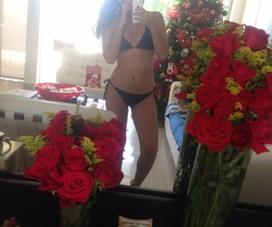 body, roses, and pool image