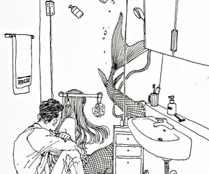 draw, man, and shower image