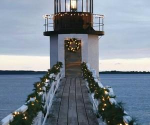 amazing, Christmas time, and lighthouse image