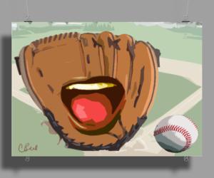 baseball and mitt image