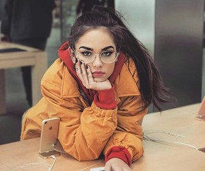 girl, glasses, and ponytail image