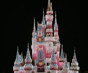 castle, christmas, and cinderella image