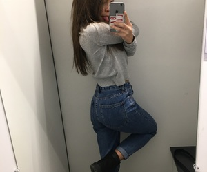 blue jeans, girl, and goal image