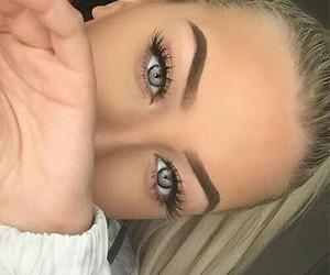 beautiful, eyes, and style image