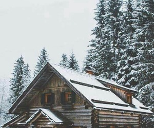winter, snow, and home image