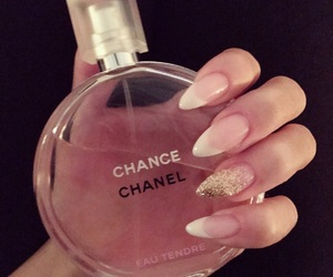 chanel, glitter, and manicure image
