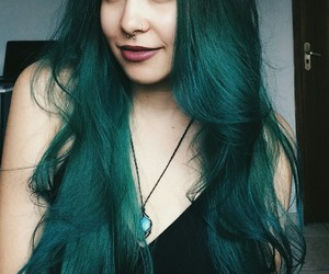 colors, green, and hair image