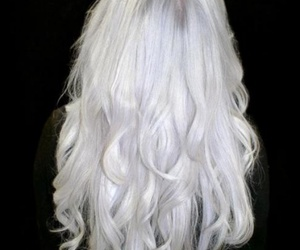 hair, girl, and white hair image