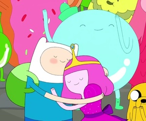 adventure time, finn, and hora de aventura image