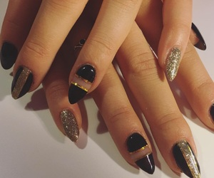 black nails, boy, and girl image