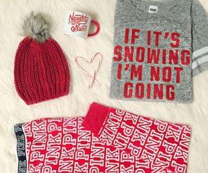christmas, pink, and cozy image