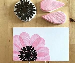 black, diy, and flower image