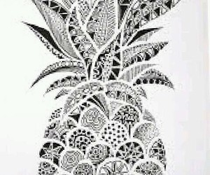 wallpaper, mandalas, and pinneapple image