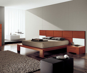 contemporary bed, italian bed, and bed image